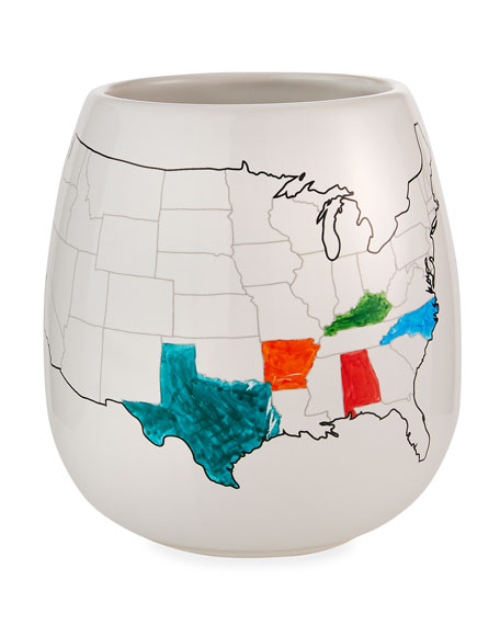 Image 2 of 5: Trouvaille USA Color Map Mug with Coloring Pen