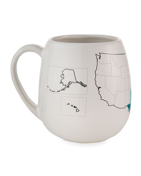 Image 3 of 5: Trouvaille USA Color Map Mug with Coloring Pen