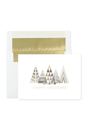 Carlson Craft Modern Trees Holiday Cards, Set of 25