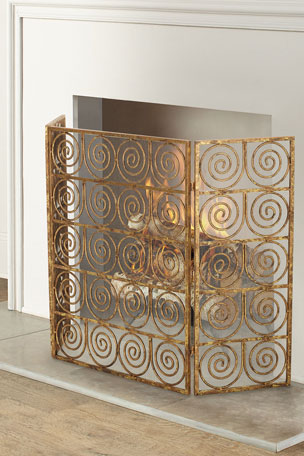 Dr. Livingston Spiral Three-Panel Firescreen