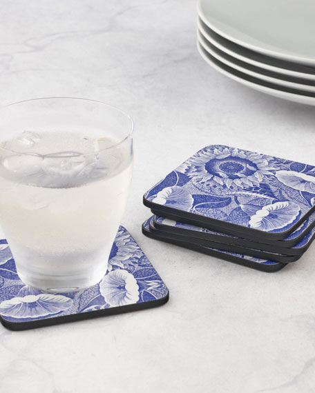 Image 1 of 3: Spode Blue Room Sunflower Coasters, Set of 6