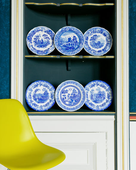 Image 1 of 3: Spode Blue Room Zoological Plate Set
