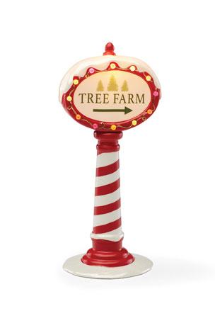 Lenox Tree Farm Mantle Sign Decor
