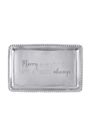 Mariposa Merry Everything & A Happy Always Beaded Buffet Tray