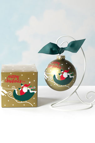 Coton Colors Merry Christmas To All Glass Ornament, Personalized