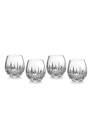 Waterford Crystal Southbridge Stemless Red Wine Glasses, Set of 4