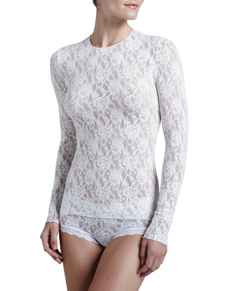 Hanky Panky Signature Lace Unlined Long-Sleeve Tee