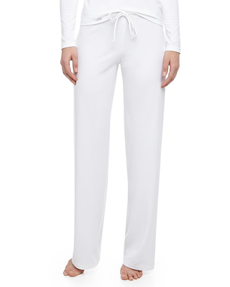 Tricot Relaxed Pants, White