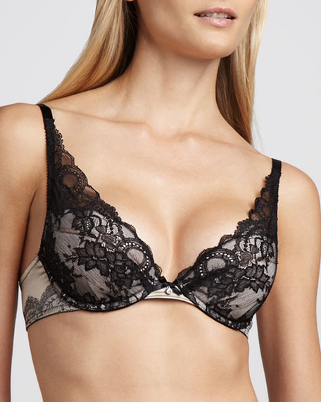 Paris Push-Up Plunge Bra
