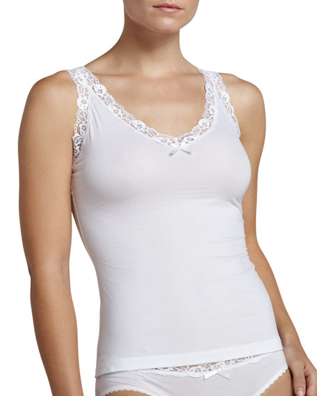 Valerie Scalloped-Lace Tank