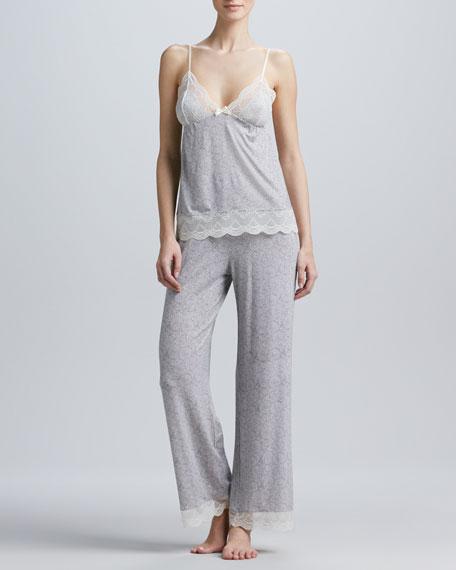 Lace-Trim Pajama Pants