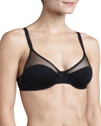 Queen of Spades Mesh-Inset Bra, The Judi