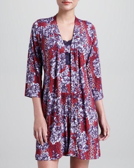 Anouck Floral-Print Robe