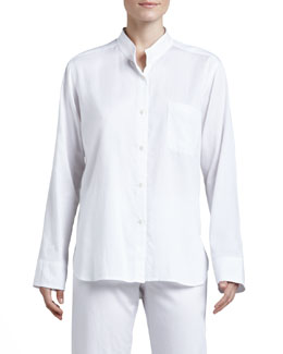 Donna Karan Cotton Sateen Pajamas, White