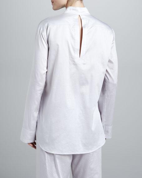 Cotton Sateen Pajamas, Gray