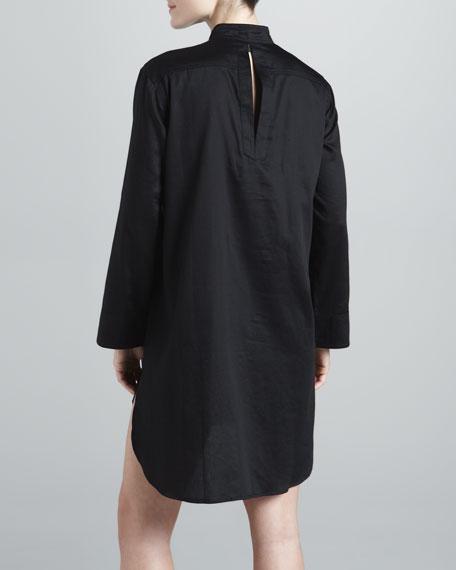 Cotton Sateen Sleep Shirt, Black