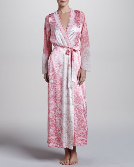 Chantilly Lace Printed Robe