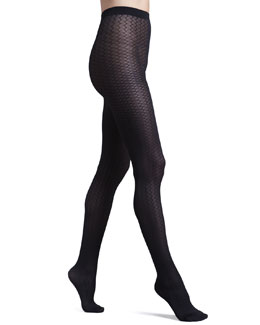 Wolford Cross Line Tights, Black