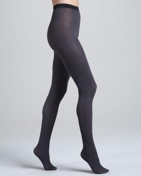 Gent Herringbone Tights, Beluga/Black