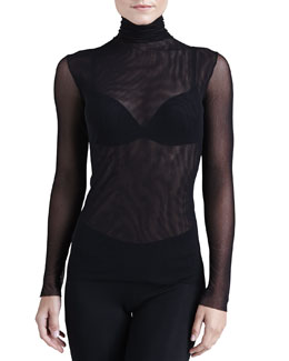 Cosabella New Soire Sheer Turtleneck