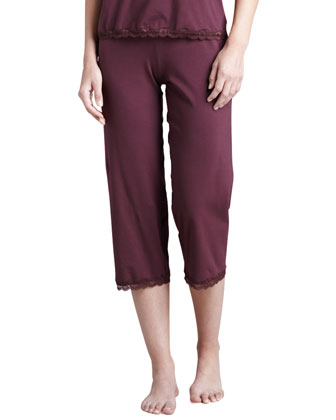 Giulette Cropped Lounge Pants, Brandy