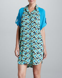 Josie Deco Geometric Sleep Shirt