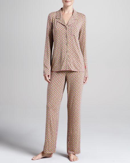 Madame Foulard Notched Pajamas