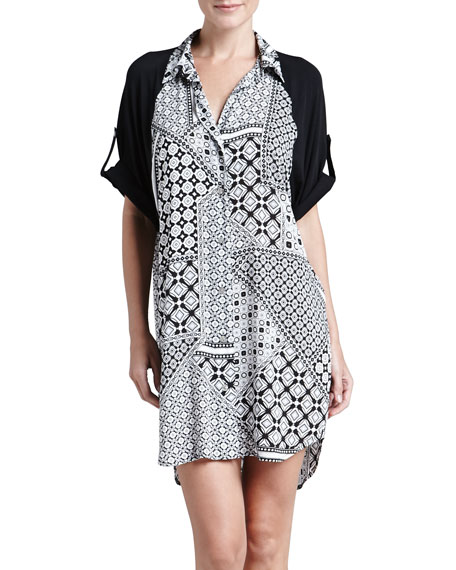 Biba Patchwork Geometric-Print Sleepshirt