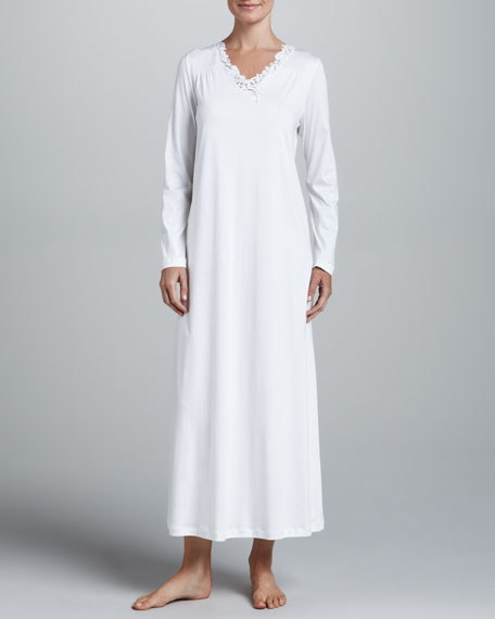 Julie Long Gown, Off White