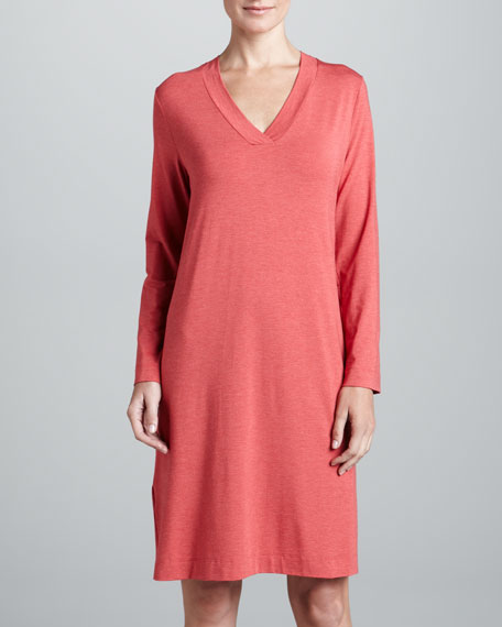 Champagne Long-Sleeve Gown, Granit