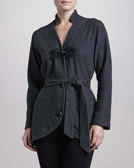 Gitana Button & Belted Short Robe