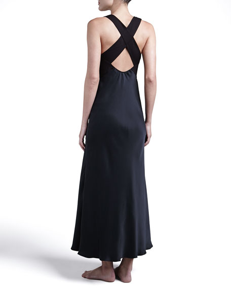 Glamour Long Silk Gown