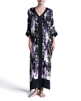 Donna Karan Glamour Abstract-Print Silk Caftan