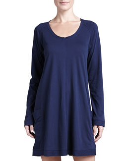 Donna Karan Pima Cotton Sleep Shirt, Ink