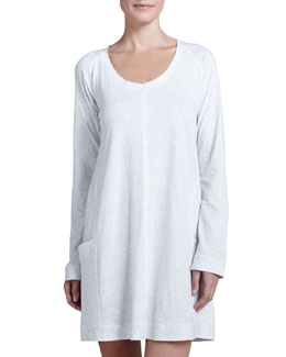 Donna Karan Pima Cotton Sleep Shirt, Heather Gray