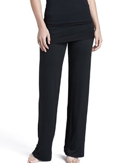 Splendid Intimates Fold-Over French Terry Pants