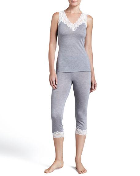 Patricia Lace-Cuff Capri Pants