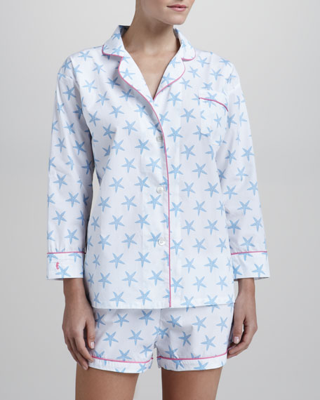 Lorient Block Starfish-Print Pajama Set