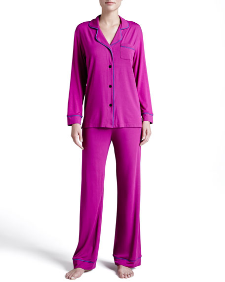Bella Piped Solid Pajamas, Jelly/Sweet Grape