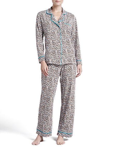 Bella Snow Leopard-Print Pajamas