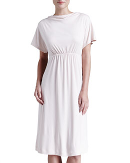 Hanro Laura Drape-Neck Lounge Nightgown