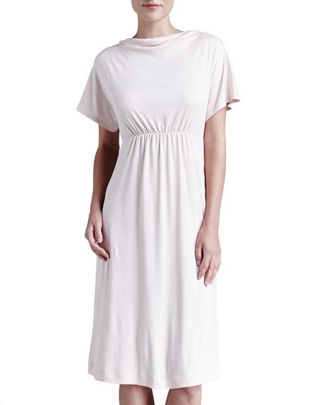 Laura Drape-Neck Lounge Nightgown