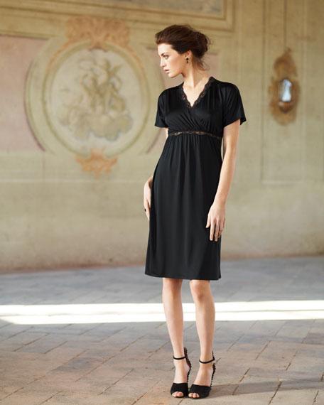 Scarlett Lace-Trim Jersey Gown