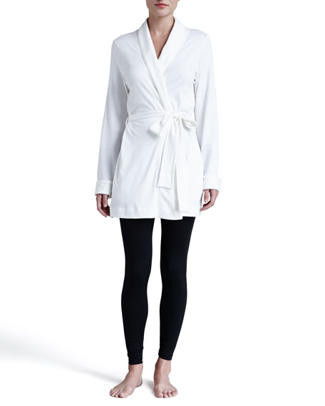 Rose Wrap-Front Jacket, Off White