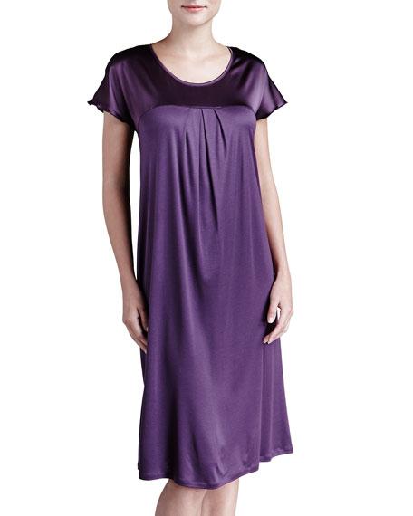 Sofia Satin-Yoke Gown