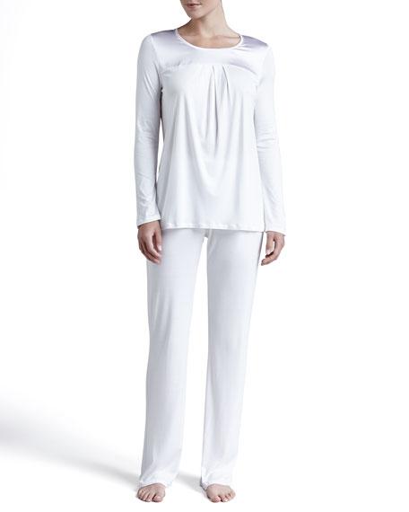 Sophia Interlock Pajama Set, Off White
