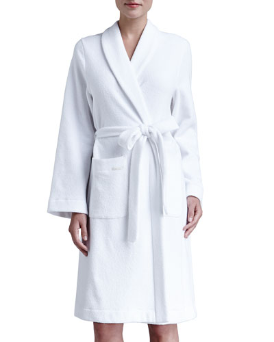 Hanro Plush Basic Tie-Waist Robe