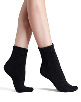 Falke Cozy Ribbed Bedsocks, Black