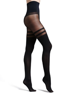 Commando Halo Sheer/Opaque Tights