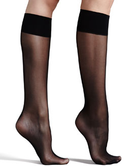 Commando Premier Sheer Basic Knee-High Socks, Black